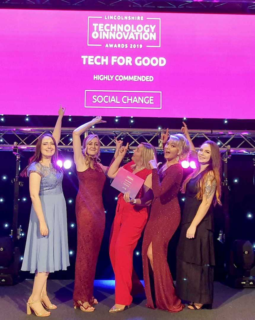 Thumbnail for Highly commended at tech awards