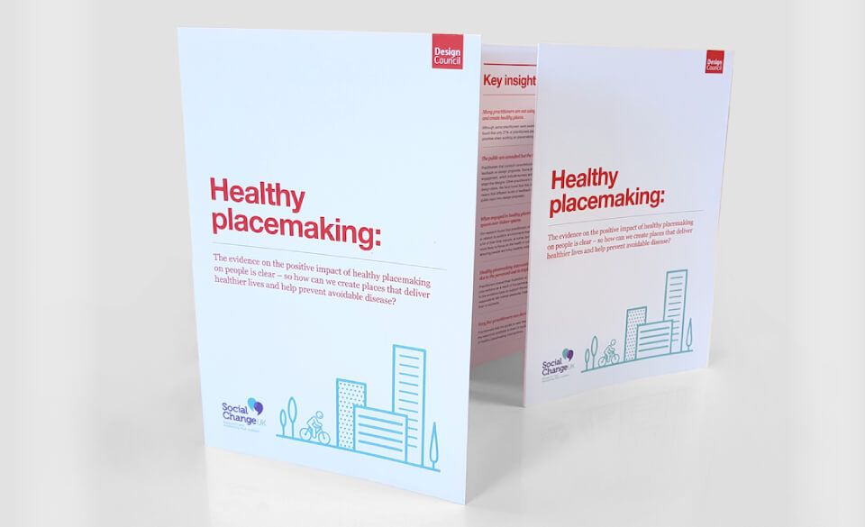 Image of the executive report for the Healthy Placemaking project.