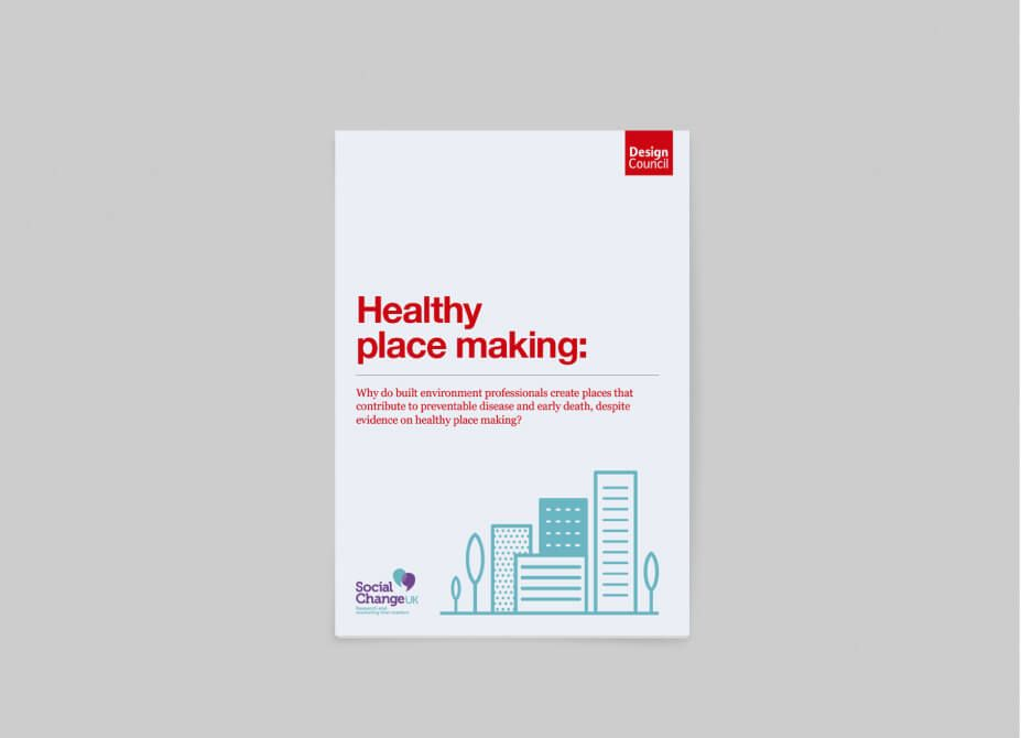 The front cover of the Design Council Healthy Placemaking report.