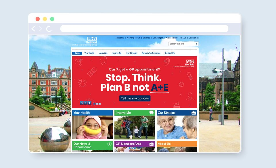 A campaign banner image on the NHS Sheffield.